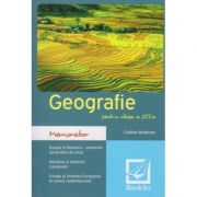 Memorator de Geografie pentru clasa a 12 a ( Editura: Booklet, Autor: Cristina Moldovan ISBN 978-606-590-642-6 )