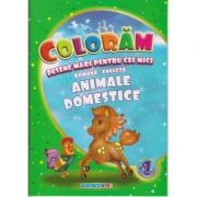 Coloram! Desene mari pentru cei mici. Romana-engleza. Animale domestice ( Editura: Eurobookids ISBN 978-606-8373-87-4 )