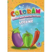 Coloram! Desene mari pentru cei mici. Romana-engleza. Legume ( Editura: Eurobookids ISBN 978-606-8373-93-5 )