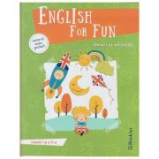 English for Fun, jocuri si activitati clasele 1 si 2 +material audio gratuit ( Editura: Booklet ISBN 978-606-590-559-7 )