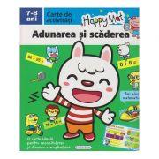 Happy Mat, carte de activitati, Adunarea si scaderea 7-8 ani ( Editura: Girasol ISBN 978-606-525-882-2 )