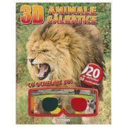 Animale salbatice cu ochelari 3D+abtibilduri ( Editura: Girasol ISBN 978-606-525-914-0 )