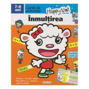 Happy Mat, carte de activitati, Inmultirea 7-8 ani ( Editura: Girasol ISBN 978-606-525-883-9 )