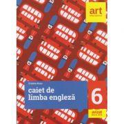 Caiet de limba engleza pentru clasa a 6 a ( Editura: Art Grup Editorial, Autor: Cristina Rusu ISBN 978-606-8948-75-1 )