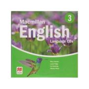 Macmillan English 3 Language Audio CDs ( Editura: Macmillan ISBN 978-1-4050-9619-5 )