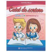 Caiet de scriere. Clasa I, semestrul II ( CSM2) ( Editura: Carminis, Autor: Luminita Minca ISBN 978-973-123-372-7)