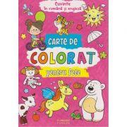Carte de colorat pentru fete. Cuvinte in romana si engleza ( Editura: Flamingo Junior, ISBN 978-606-8555-42-3 )