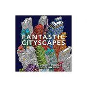 Fantastic Cityscapes: A Mister Mourao Coloring Book ( Editura: Outlet - carte limba engleza, Autor: Mister Mourao ISBN 978-1-910552-25-4)