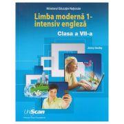 Limba moderna 1 - intensiv engleza clasa a 7 a ( Editura: Express Publishing, Autor: Jenny Dooley ISBN 9781471583124 )