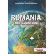 Romania. Atlas geografic scolar ( Editura: Paralela 45, Autori: Ana-Maria Marin, Ionut Savulescu, Cezar-Iulian Buterez, Marina-Ramona Virghileanu ISBN 978-973-47-2826-8)