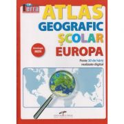 Atlas geografic scolar Europa(Editura: CD Press ISBN 9786065283619)