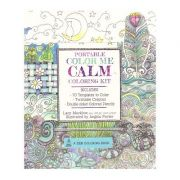 Portable Color Me Calm: 70 Coloring Templates for Meditation and Relaxation (A Zen Coloring Book) ( Editura: Race Point Publishing/Books Outlet, Autor: Lacy Mucklow ISBN 9781631061837)