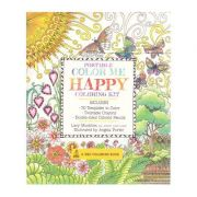 Portable Color Me Happy: 70 Coloring Templates for Meditation and Relaxation (A Zen Coloring Book) ( Editura: Race Point Publishing/Books Outlet, Autor: Lacy Mucklow ISBN 9781631061899)