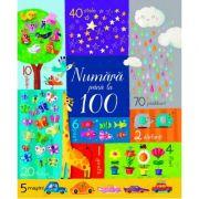 Numara pana la 100 (Usborne) ( Editura: Univers Enciclopedic, Autor: Usborne Books ISBN 9786067044959 )