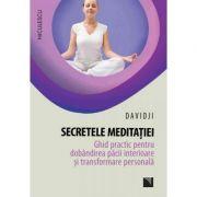 Secretele meditatiei. Ghid practic pentru dobandirea pacii interioare si transformare personala (Editura: Niculescu, Autor: Dadidji ISBN 9786063800702)