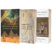 Pachet 3 carti: PROGRAMUL TERRA ÎN EGIPTUL ANTIC. COMPUTERUL GENETIC AL ZEILOR (vol 1+vol 2), CARTEA EGIPTEANA A MORTILOR (Traducere de Aura Ruxandra Moldovan) + Poster 3D COLOR ( Editura: Conexiuni, Autor: Toni Victor Moldovan ). LIVRARI in U. E.!