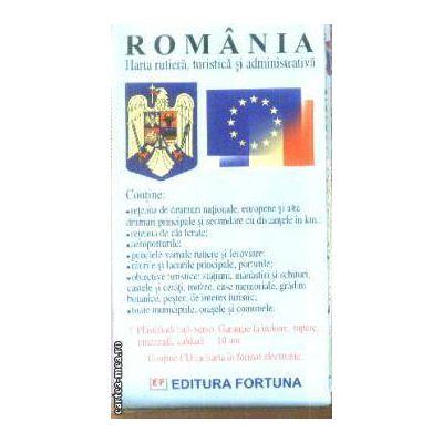 Harta rutiera turistica si administrativa Romania + CD