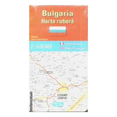Bulgaria harta rutiera / road map