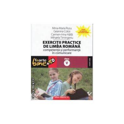 Exercitii practice de limba romana clasa a 5 a