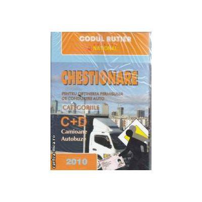 Chestionare pentru obtinerea permisului de Conducere auto categoriile C si D 2010