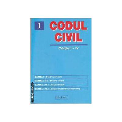 Codul civil cartile I-IV(editura Erc Press isbn: 978-606-602-160-9)