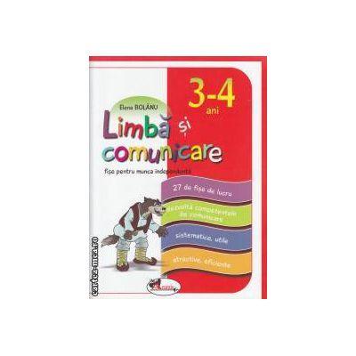 Limba si comunicare 3-4 ani (editura Aramis, autor: Elena Bolanu isbn: 978-973-679-843-6)