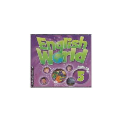 English World Audio 5 ( editura: Macmillan, ISBN 978-0-230-02454-0 )
