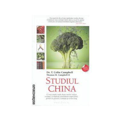 Studiul China: Cel mai complet studiu despre nutritie realizat vreodata ( editura: Adevar Divin, autor: Dr. T. Colin Campbell, Thomas M. Campbell II ISBN 978-606-8080-75-8 )