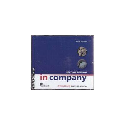 In company second edition intermediate Class Audio CDs ( editura: Macmillan, autor: Mark Powell ISBN 978-0-230-71716-9 )