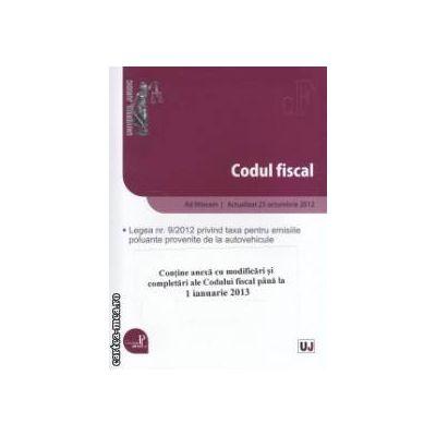 Codul fiscal ad litteram: actualizat la data de 25 octombrie 2012 ( editura: Universul Juridic ISBN 978-973-127-979-4 )
