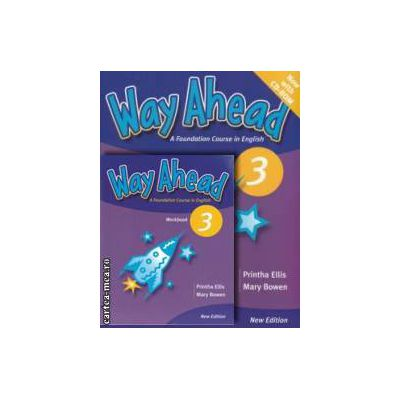 PROMOTIE : Way Ahead 3 Pupil ' s book with CD - ROM + Workbook ( editura : Macmillan , autori : Printha Ellis , Mary Bowen )