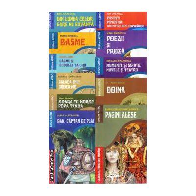 Pachet 13 carti din colectia Clasici ai Literaturii Romane (1)