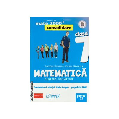 Matematica 2000 consolidare : Algebra , Geometrie : clasa a VII - a , Partea II ( editura : Paralela 45 , coord . Radu Gologan ISBN 9789734718115 )