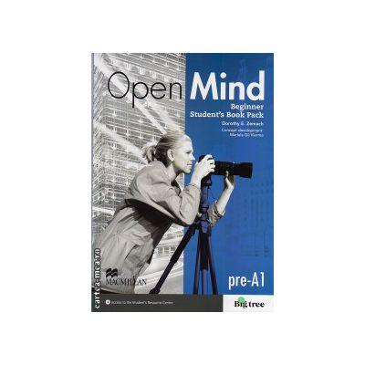 Open Mind Beginner Student's Book Pack Standard with DVD ( editura: Macmillan, autor: Dorothy E. Zemach, ISBN 9780230458277 )
