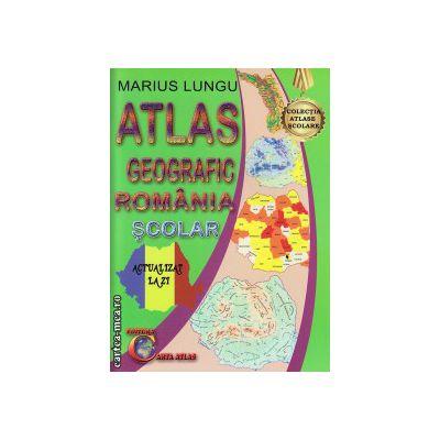 Atlas geografic al Romaniei - scolar ( editura: Carta Atlas, autor: Marius Lungu, ISBN 9786069366110 )
