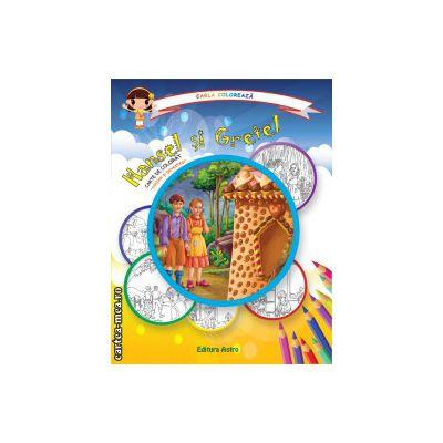 Colectia Carla coloreaza : Hansel si Gretel - carte de colorat + poveste (editura : Astro , ISBN 978-606-8148-64-9 )