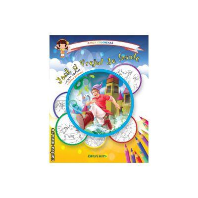 Colectia Carla coloreaza : Jack si Vrejul de fasole - carte de colorat + poveste (editura : Astro , ISBN 978-606-8148-57-1 )