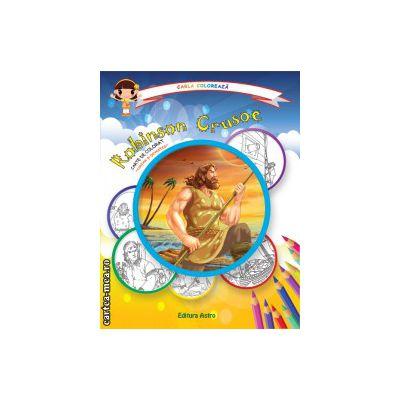 Colectia Carla coloreaza : Robinson Crusoe - carte de colorat + poveste (editura : Astro , ISBN 978-606-8148-59-5 )