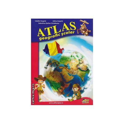 Atlas geografic scolar ( editura: Joy, autor: Catalin Gogota, Adina Gogota, ISBN 978-606-8593-18-0 )