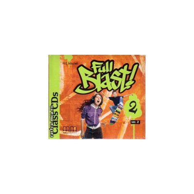 Full Blast 2 Class CDs ( editura : MM Publications , autor : H.Q. Mitchell , ISBN 9789604786718 )