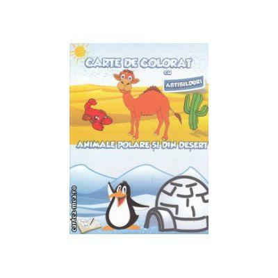 Carte de colorat cu abtibilduri Animale polare si din desert ( Editura: Ars Libri ISBN 9786065744677 )