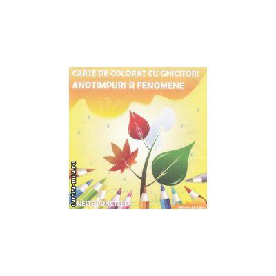 Anotimpuri si fenomene carte de colorat cu ghicitori ( Editura : Ars Libri , Autor : Adina Grigore ISBN 978-606-574-233-8 )