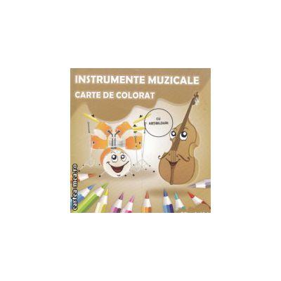 Instrumente muzicale carte de colorat cu abtibilduri (Editura : Ars Libri , Autor : Adina Grigore ISBN 978-606-574-224-6 )