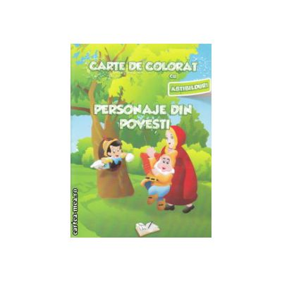 Carte de colorat cu abtibilduri Personaje din povesti ( Editura: Ars Libri ISBN 9786065741553 )
