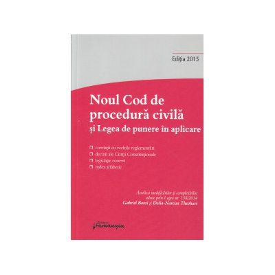 Noul cod de procedura civila si Legea de punere in aplicare ( Editura: Hamangiu ISBN978-606-27-0168-0 )