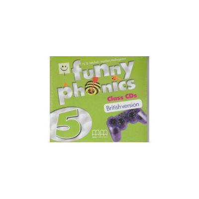 Funny Phonics 5 Class CD's British Version ( Editura: MM Publications, Autor: H. Q. Mitchell, Marileni Malkogianni ISBN 9789604788828 )