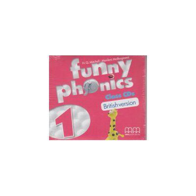 Funny Phonics 1 Class CD's British Version ( Editura: MM Publications, H. Q. Mitchell, Marileni Malkogianni ISBN 978-960-478-878-1 )