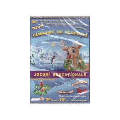 Clinchet de clopotei - CD cu jocuri educationale 3-7 ani ( editura: EduTeca, ISBN 9786069311134 )