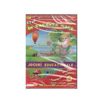 In vacanta mare - CD cu jocuri educationale ( editura: EduTeca, ISBN 9786069311172 )
