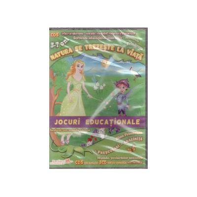 Natura se trezeste la viata - CD cu jocuri educationale 3-7 ani ( editura: EduTeca, ISBN 9786069311141 )